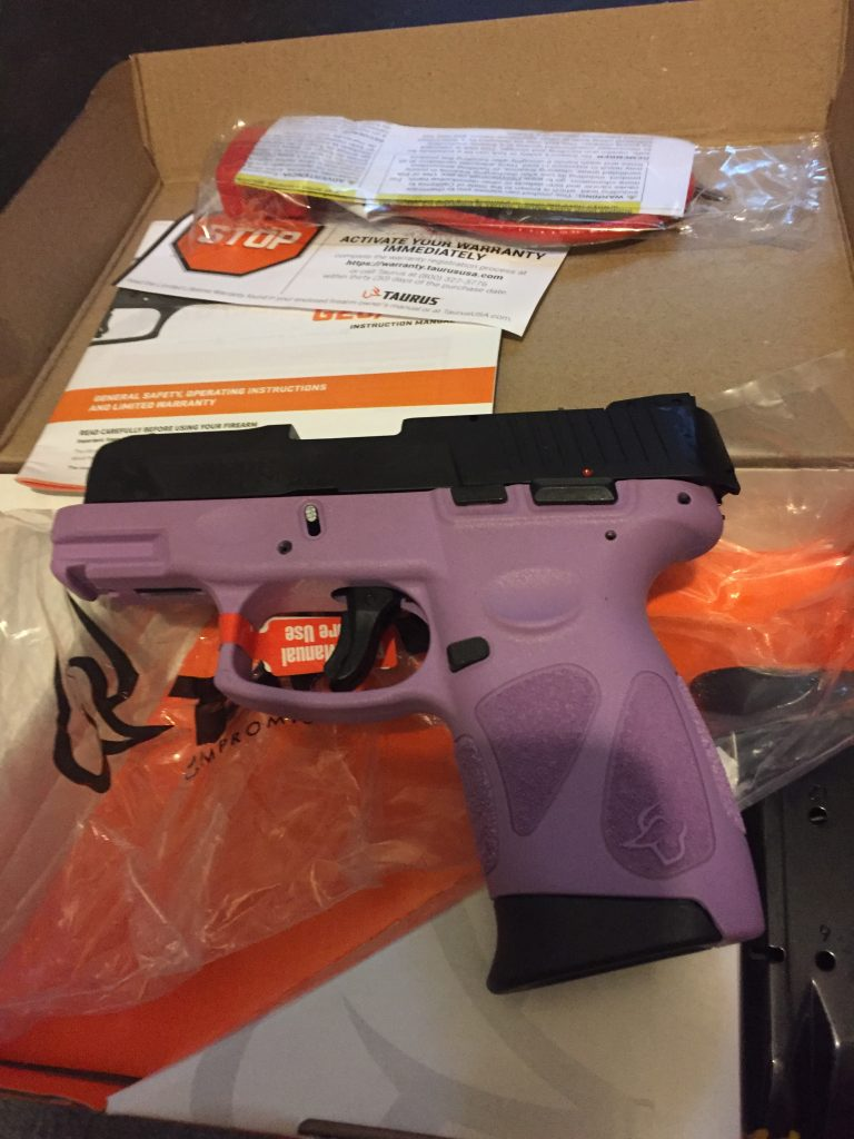 New, Never Fired, Taurus G2C in Lavender Finish – Click